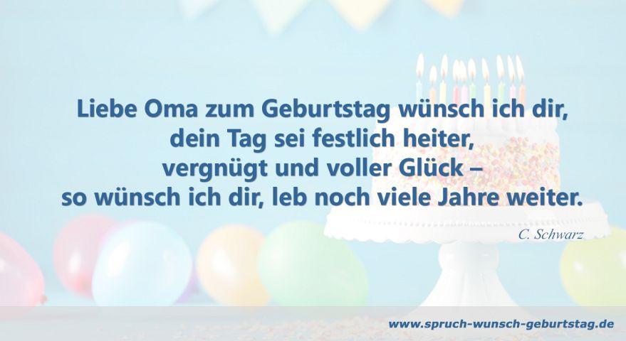 Geburtstagswünsche Für Oma Vom Enkel  Geburtstagswünsche und Sprüche für Oma zum Geburtstag