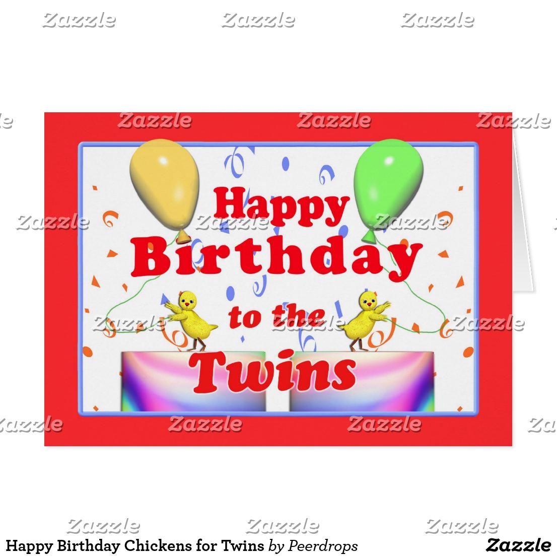 Geburtstagswünsche Für Zwillinge  Alles Gute Zum Geburtstag Zwillinge