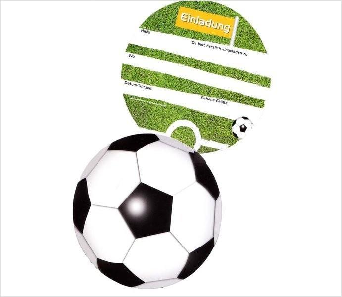 Geburtstagswünsche Fussball  Einladung Kindergeburtstag Fusball Basteln