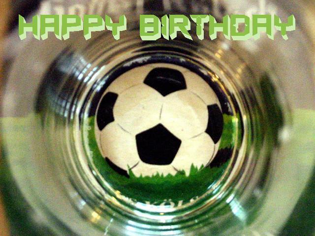 Geburtstagswünsche Fussball  kostenlose Grusskarte zum Geburtstag selber drucken