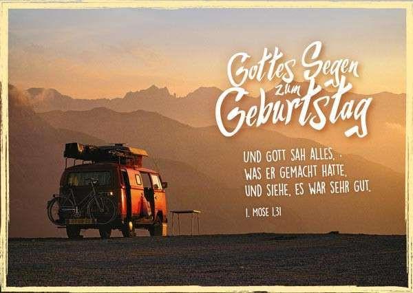 Geburtstagswünsche Gottes Segen  Postkarte mit Bibeltext zum Geburtstag Format 10 5 cm x