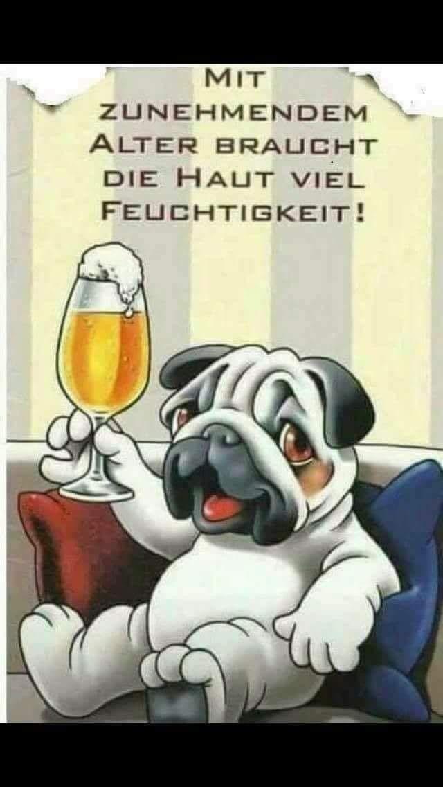 Geburtstagswünsche Hundeliebhaber  Bier lustig witzig Sprüche Bild Bilder