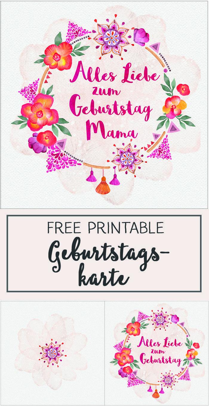 Geburtstagswünsche Mama  DIY Alles Liebe zum Geburtstag Mama Geburtstagskarte