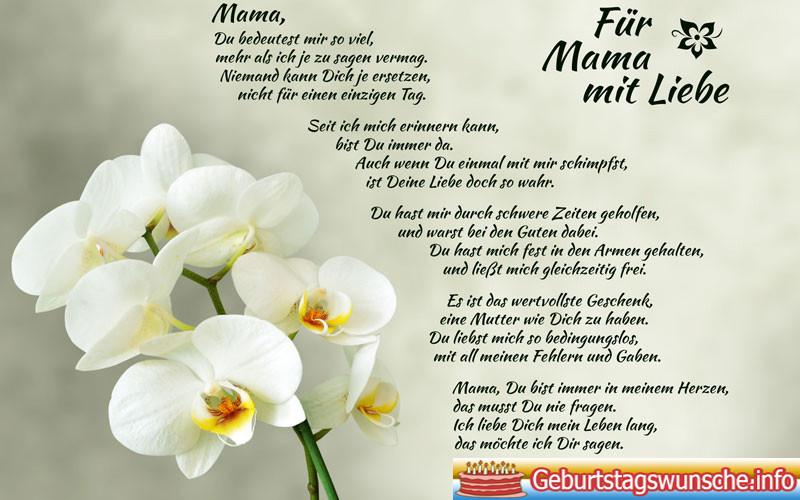 Geburtstagswünsche Mama  Geburtstagswünsche für Mama Wünsche zum Geburtstag
