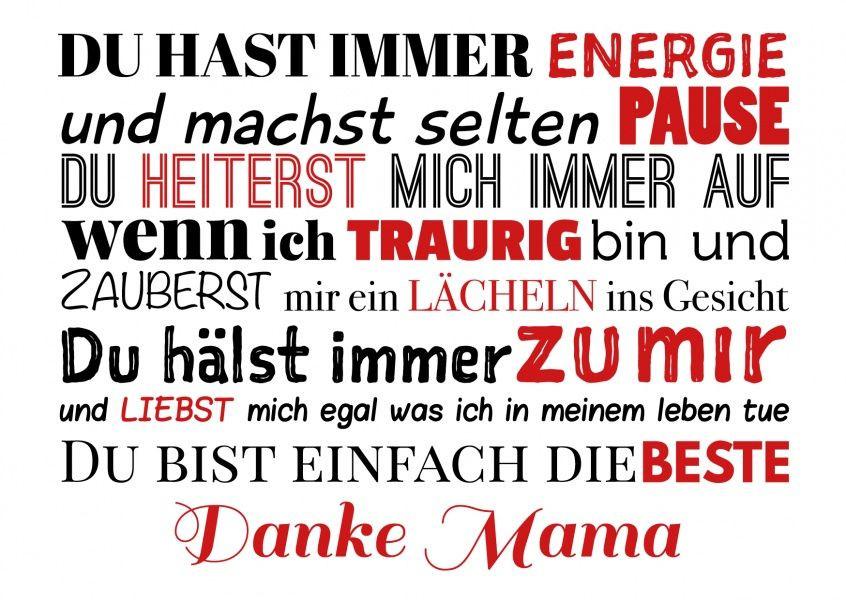 Geburtstagswünsche Mama Danke  Danke Mama