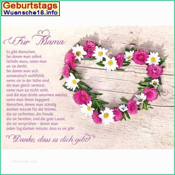 Geburtstagswünsche Mama Danke  Geburtstagswünsche Mama Lustig Niedlich 25