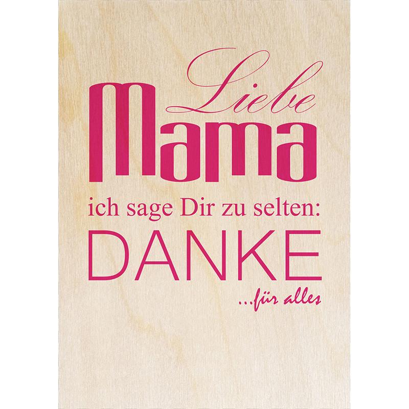 Geburtstagswünsche Mama Danke  Liebe Mama Danke Die magnetische Holzpostkarte von woodcardz