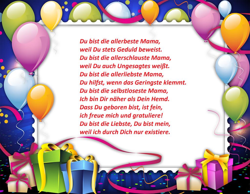 Geburtstagswünsche Mama  Geburtstagswünsche für Mama