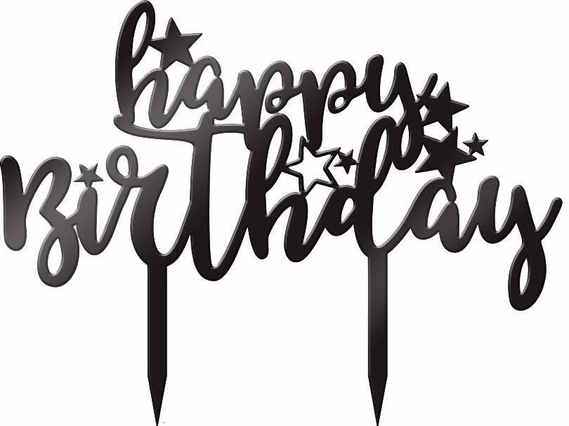 Geburtstagswünsche Seriös  Tortenstecker Happy Birthday 02 23 18 cm kaufen