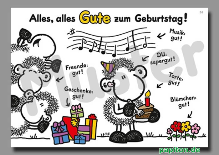 Geburtstagswünsche Sheepworld  Alles Gute Zum Geburtstag Kleiner Bruder Spr252che