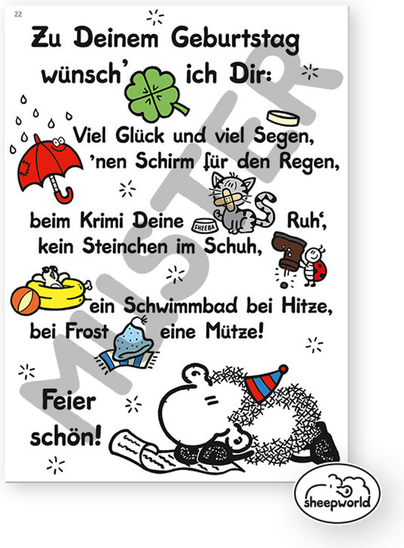 Geburtstagswünsche Sheepworld  Deinem Geburtstag 40