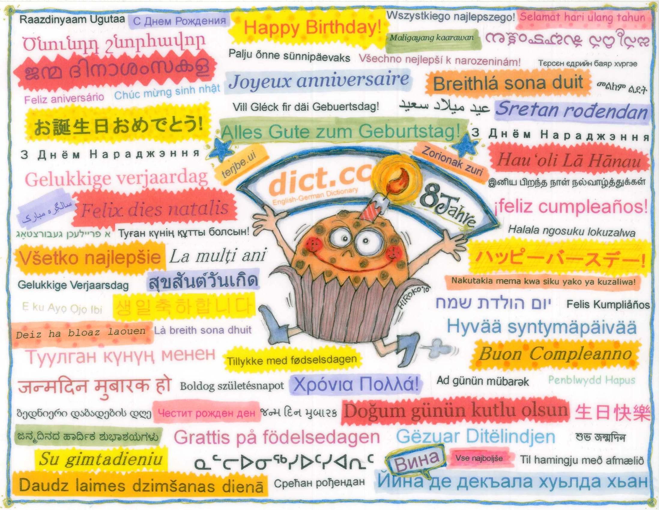 Geburtstagswünsche Spanisch  Glückwunsch Zum Geburtstag Nachträglich Englisch
