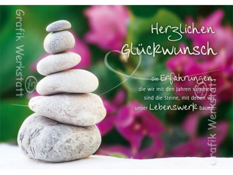 Geburtstagswünsche Steine  Geburtstagswnsche Doppelkarten Grafik Werkstatt Bielefeld