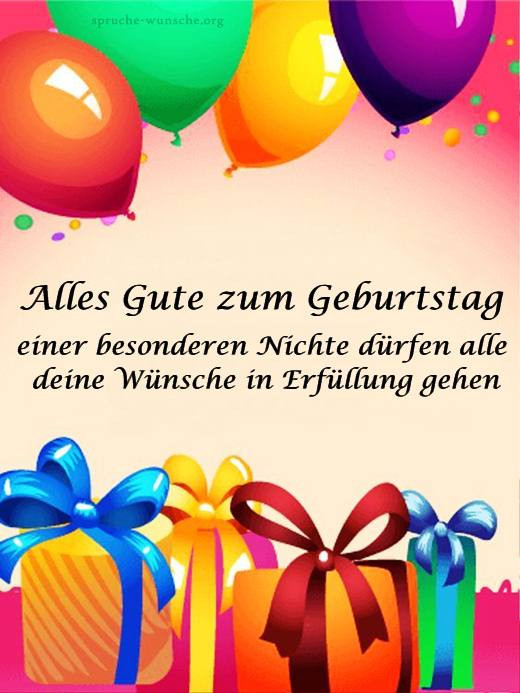 Geburtstagswünsche Tante  Geburtstagswünsche für Nichte