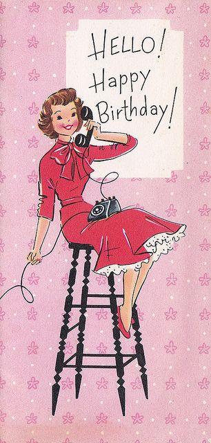 Geburtstagswünsche Vintage  Vintage Greeting Card Birthday design