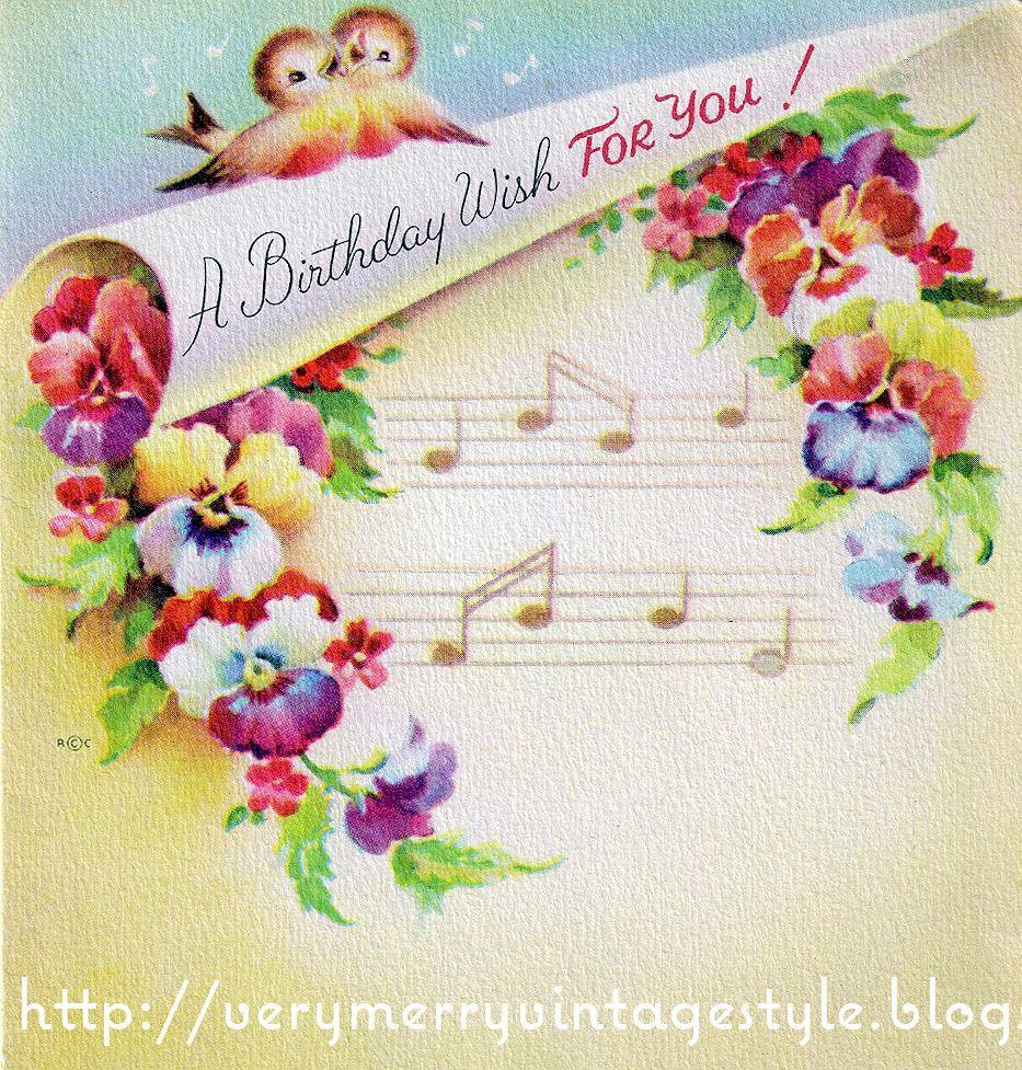 Geburtstagswünsche Vintage  vintage birthday