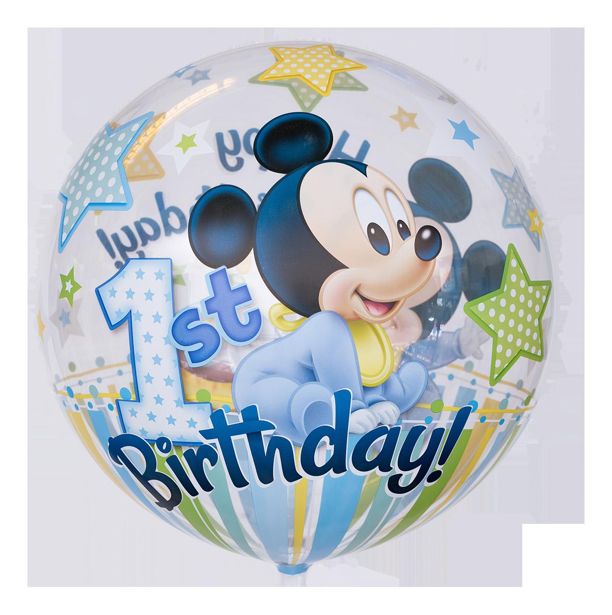 """Geburtstagswünsche Zum 1 Geburtstag  Süßer """"Mickey Maus"""" Bubble Ballon"""