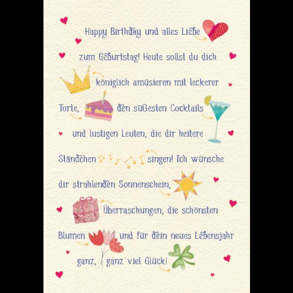 Geburtstagswünsche Zum 1 Geburtstag  Happy Birthday Bild1 Geburtstagssprüche