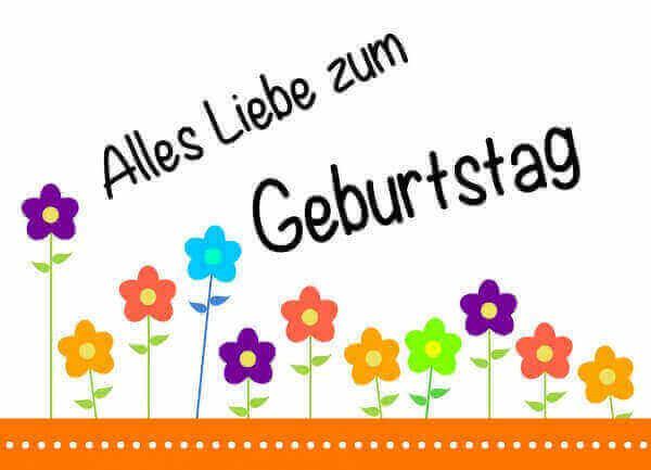 Geburtstagswünsche Zum 1 Geburtstag  Geburtstagskarten kostenlos als PDF ausdrucken