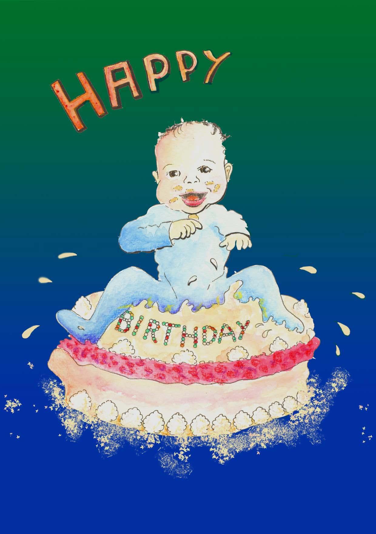 Geburtstagswünsche Zum 1 Geburtstag Von Den Großeltern  Glückwunsch Karte zum Herunterladen