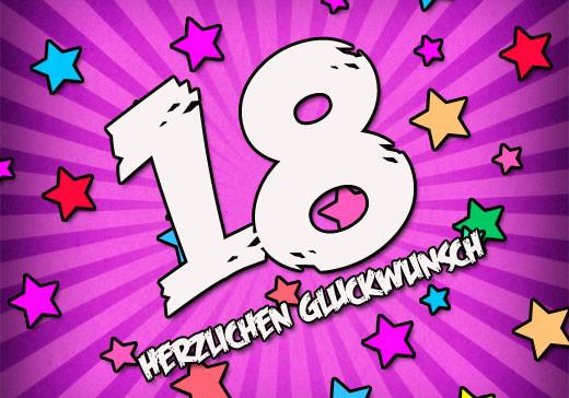 Geburtstagswünsche Zum 18. Geburtstag  Glückwünsche zum 18 Geburtstag
