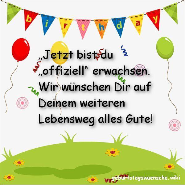 Geburtstagswünsche Zum 18. Geburtstag  Glückwünsche zum 18 Geburtstag © 【Geburtstagswuensche】