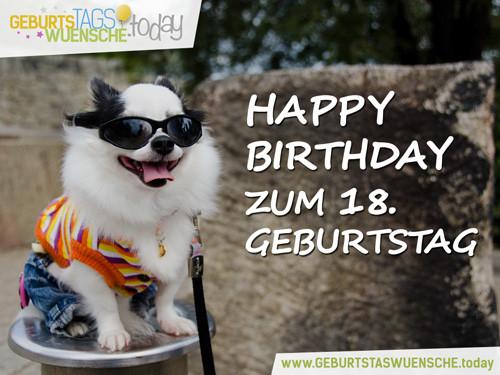 """Geburtstagswünsche Zum 18 Lustig  Glückwünsche zum 18 Geburtstag Bild """"Happy Birthday"""""""
