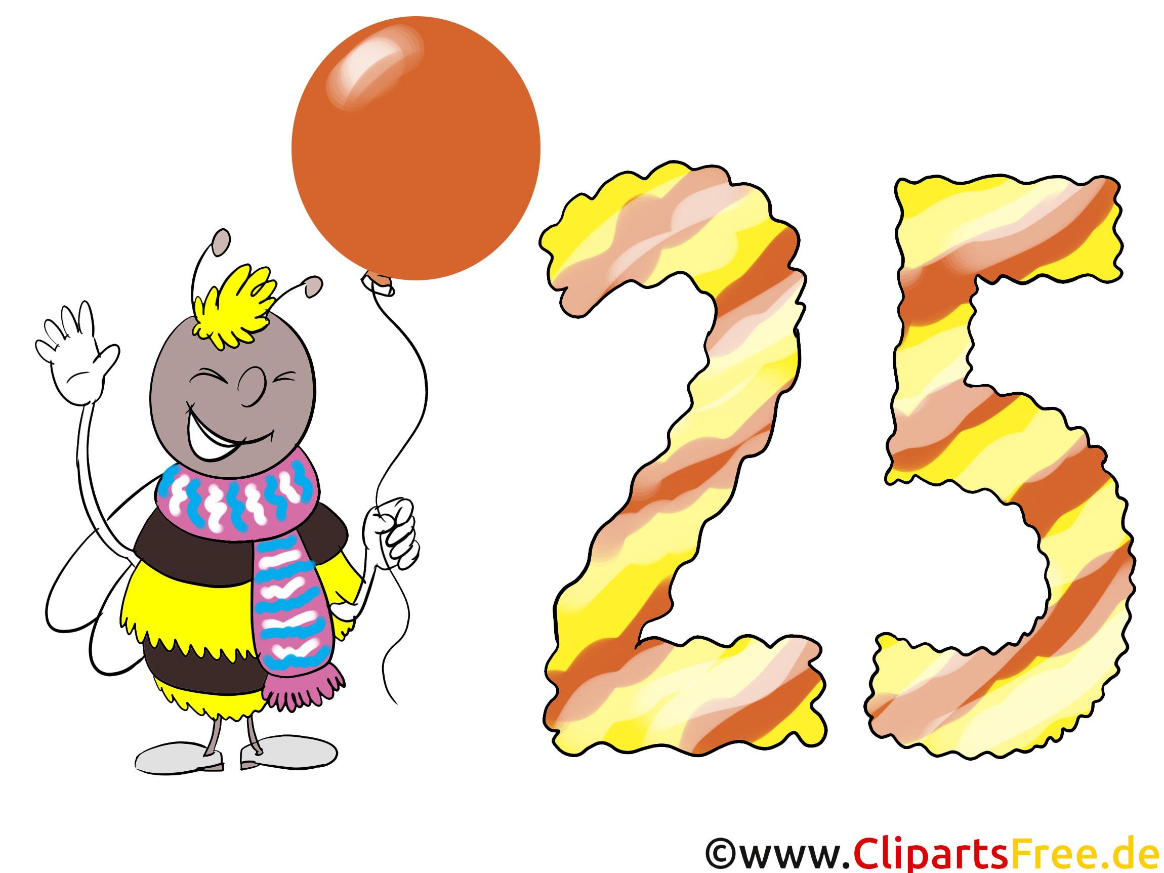 Geburtstagswünsche Zum 25  Geburtstagswünsche zum 25 Geburtstag Karte Clipart