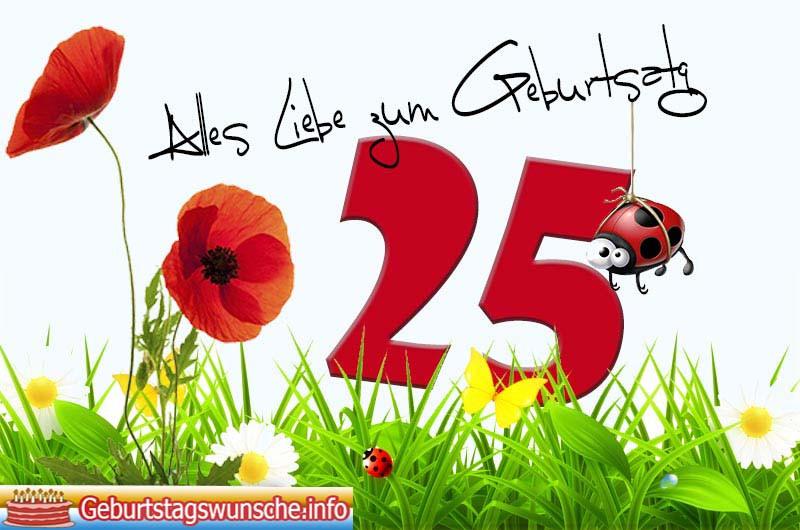 Geburtstagswünsche Zum 25  Sprüche zum 25 Geburtstag Glückwünsche zum 25