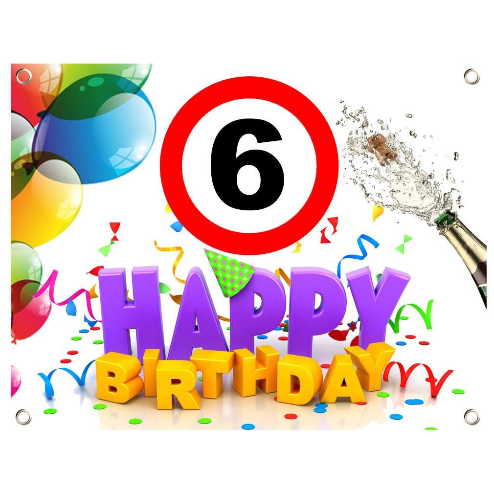 Geburtstagswünsche Zum 4 Geburtstag  PVC Geburtstagsbanner 6 Geburtstag Geburtstagslaken