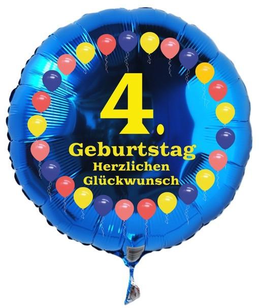 Geburtstagswünsche Zum 4 Geburtstag  Ballonsupermarkt lineshop Luftballon 4 Geburtstag