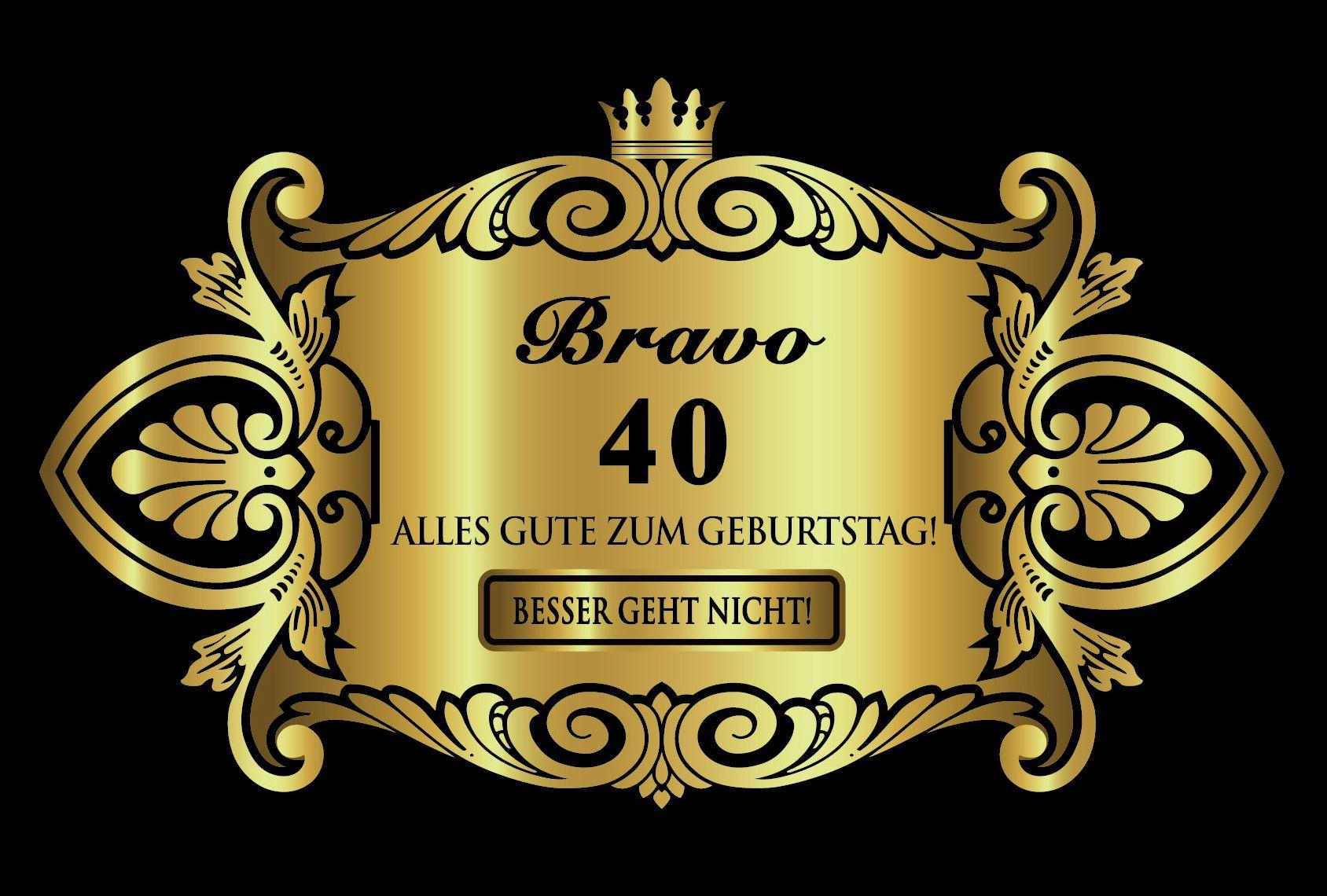 Geburtstagswünsche Zum 40 Geburtstag Mann  Alles Gute Zum 40 Geburtstag Sprüche Lustig