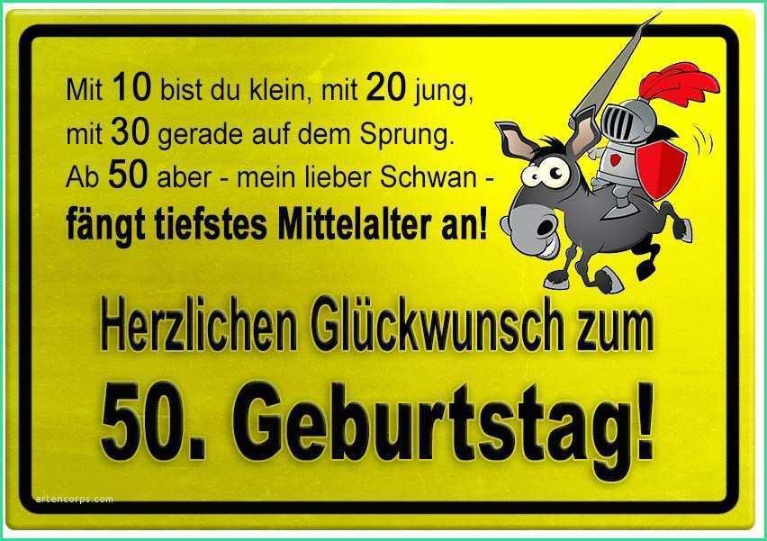 Geburtstagswünsche Zum 50 Lustig  Geburtstagswünsche 50 Lustig Bewundernswert Gelbes Schild