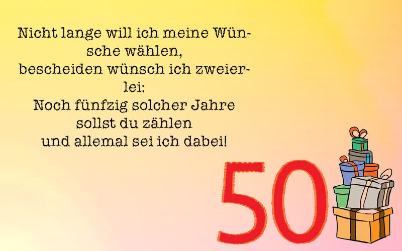 Geburtstagswünsche Zum 50 Lustig  Geburtstagswünsche zum 50 Geburtstag