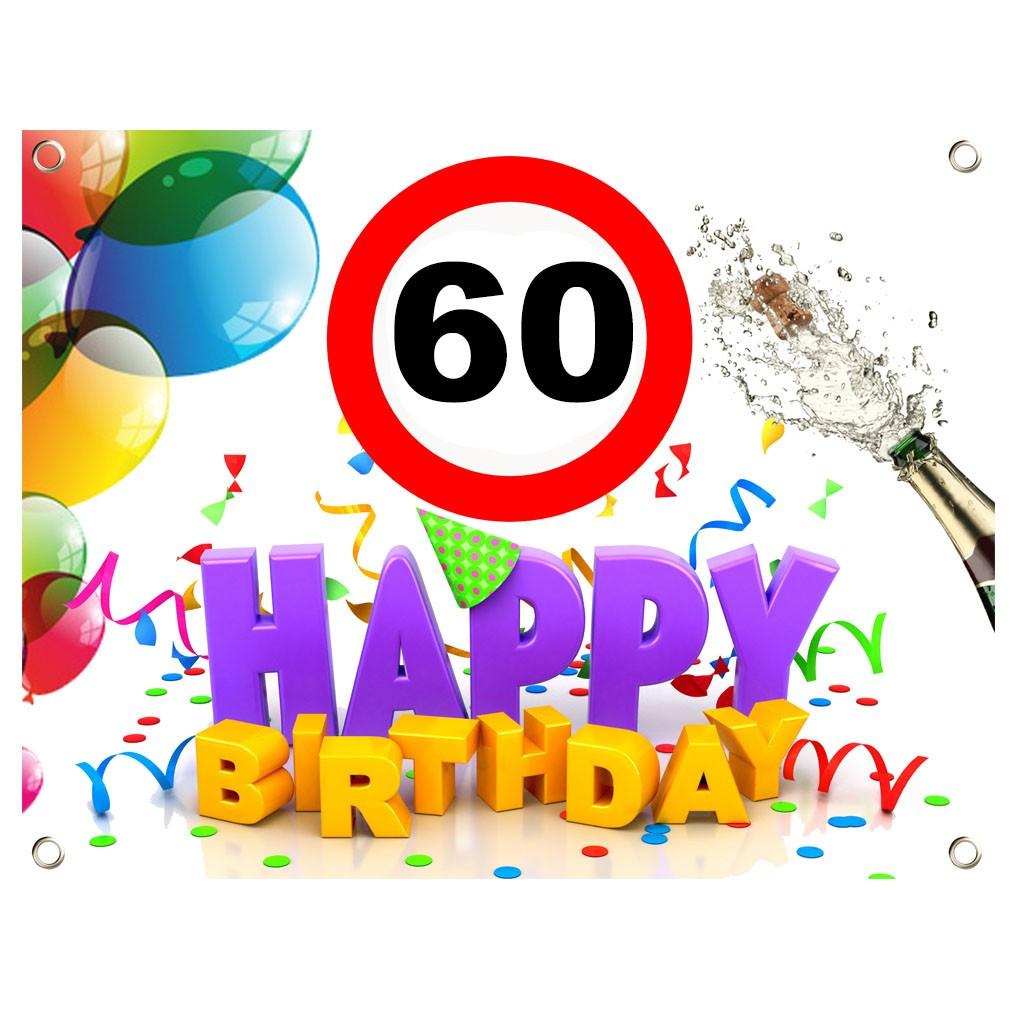 Geburtstagswünsche Zum 55  PVC Geburtstagsbanner 60 Geburtstag Geburtstagslaken