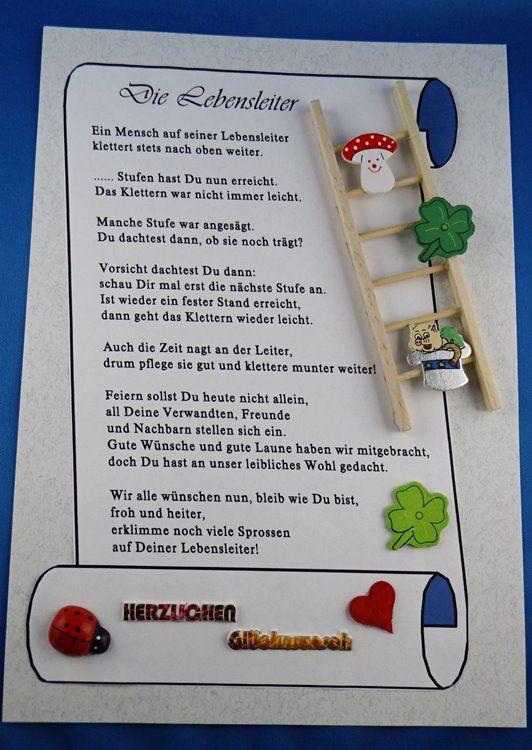 Geburtstagswünsche Zum 55  Spruch Gedicht für runden Geburtstag Geschenk kreativ