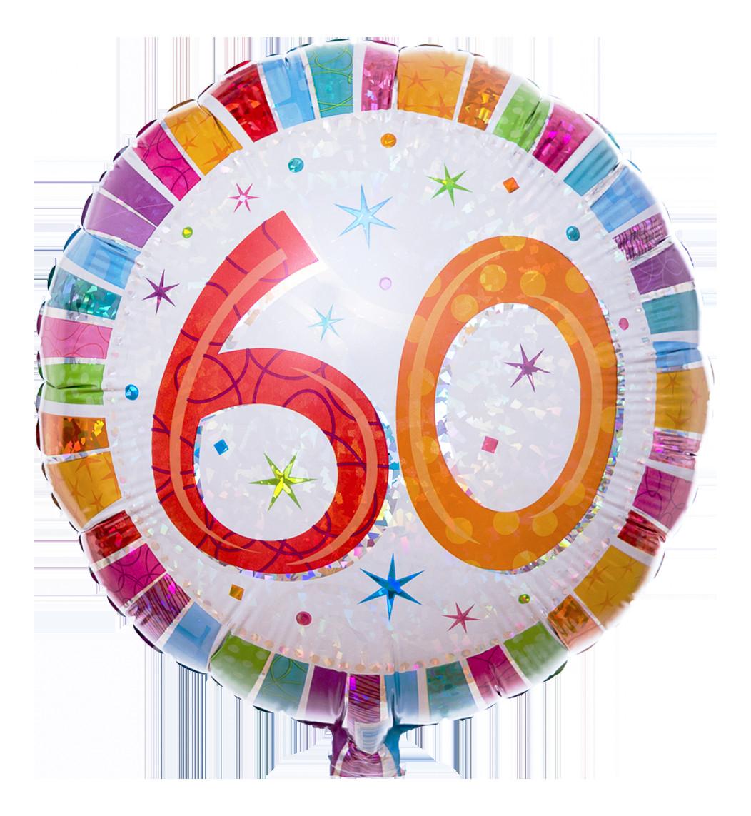 Geburtstagswünsche Zum 60  Zahlenballon zum 60 Geburtstag