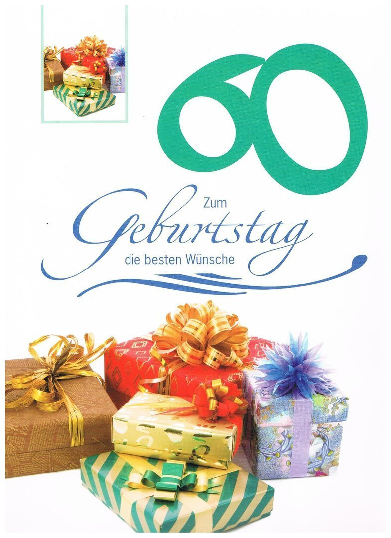 Geburtstagswünsche Zum 60 Geburtstag  Geburtstagskarte XXL zum 60 Geburtstag Partyland