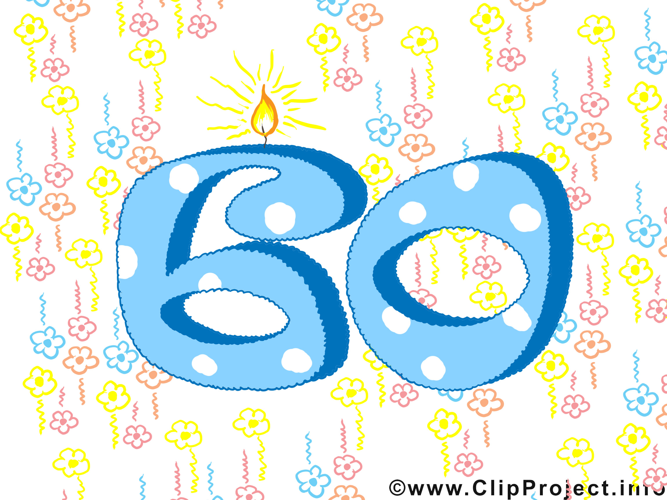 Geburtstagswünsche Zum 60 Geburtstag  Geburtstagswünsche zum 60 Glückwunschkarte gratis