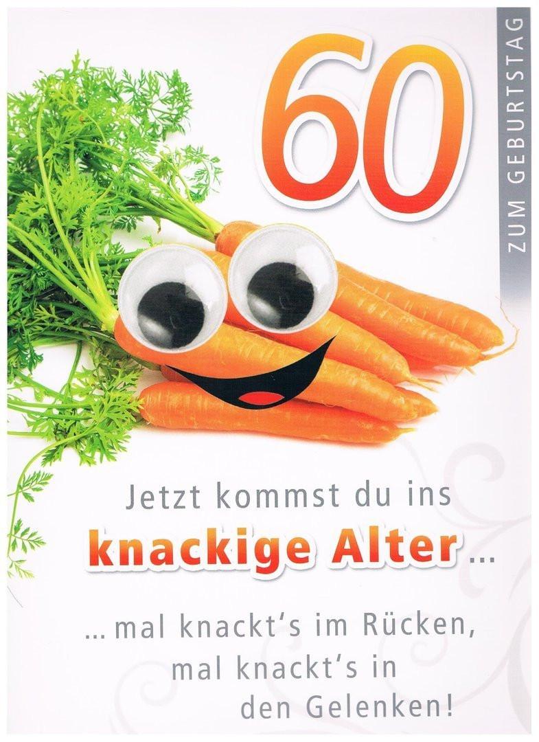 """Geburtstagswünsche Zum 60 Geburtstag  Geburtstagskarte XXL zum 60 Geburtstag """"knackiges Alter"""