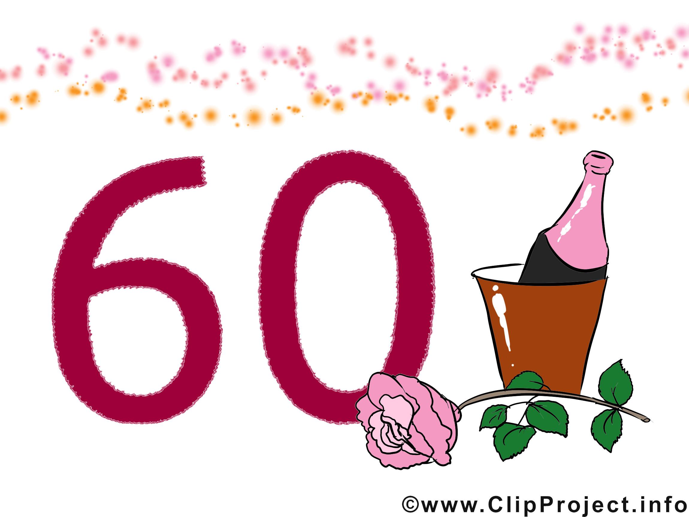 Geburtstagswünsche Zum 60 Geburtstag  Geburtstagswünsche zum 60 Glückwunschkarte Clipart Bild