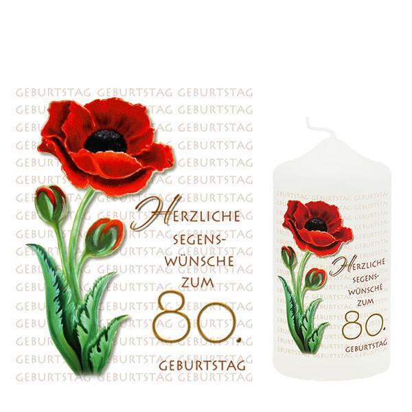 Geburtstagswünsche Zum 80 Geburtstag  Geburtstagskerze Zum 80 Geburtstag