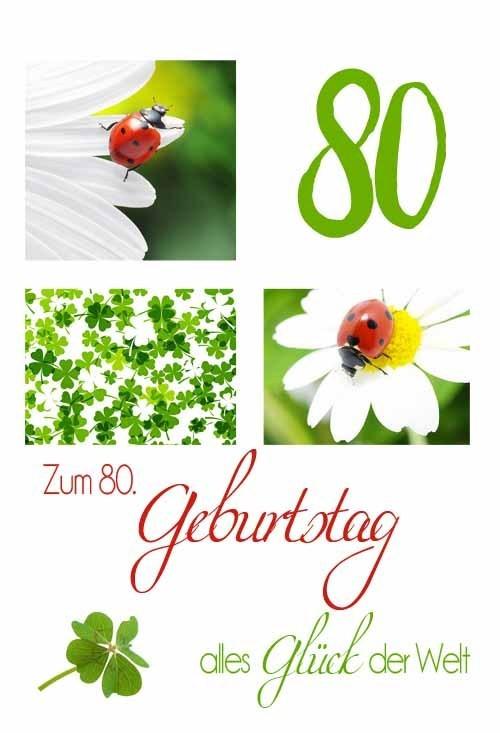 Geburtstagswünsche Zum 80 Geburtstag  GZ310 80 Geburtstag Zahlen Premium