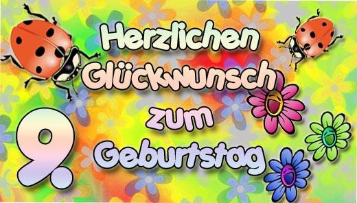 Geburtstagswünsche Zum 9 Geburtstag  9 Geburtstag Glückwünsche und Sprüche
