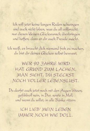 Geburtstagswünsche Zum 90. Geburtstag  Geschenk Grußkarte Urkunde Zum 90 Geburtstag herzliche