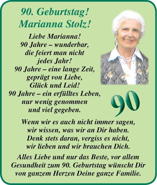 Geburtstagswünsche Zum 90. Geburtstag  Herzlichkeiten