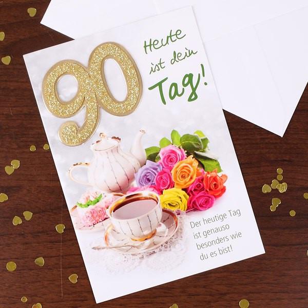 Geburtstagswünsche Zum 90. Geburtstag  Grußkarte