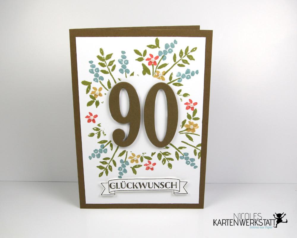 Geburtstagswünsche Zum 90. Geburtstag  Karte zum 90 Geburtstag