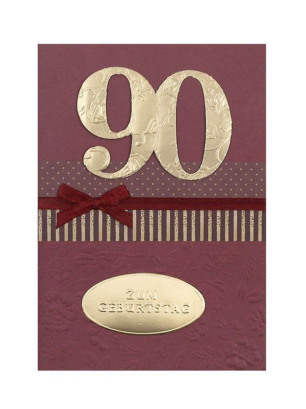 Geburtstagswünsche Zum 90. Geburtstag  Geburtstagskarte zum 90 Geburtstag mit Briefumschlag