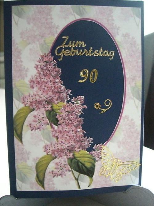 Geburtstagswünsche Zum 90. Geburtstag  Karte zum 90 Geburtstag Bastelideen Karten